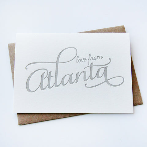 Love from Atlanta Card - Steel Petal Press