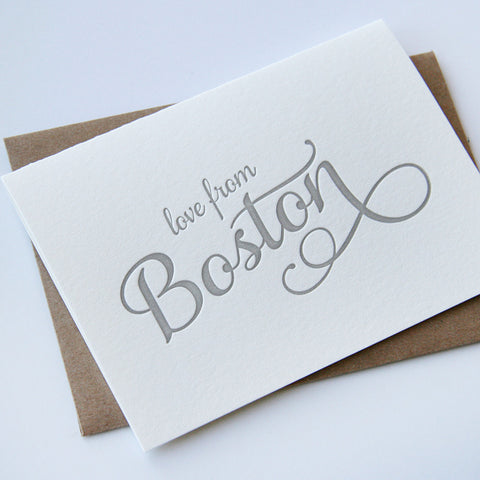 Love from Boston Card - Steel Petal Press