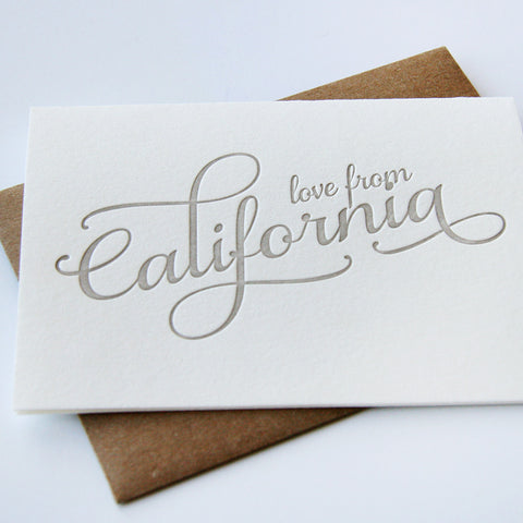 Love from California Card - Steel Petal Press