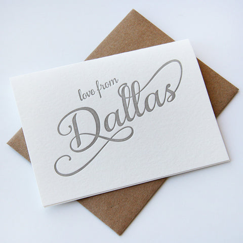 Love from Dallas Card - Steel Petal Press