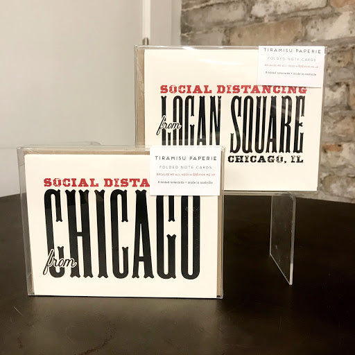 Social Distancing from Chicago Notecards Boxed Set - Steel Petal Press