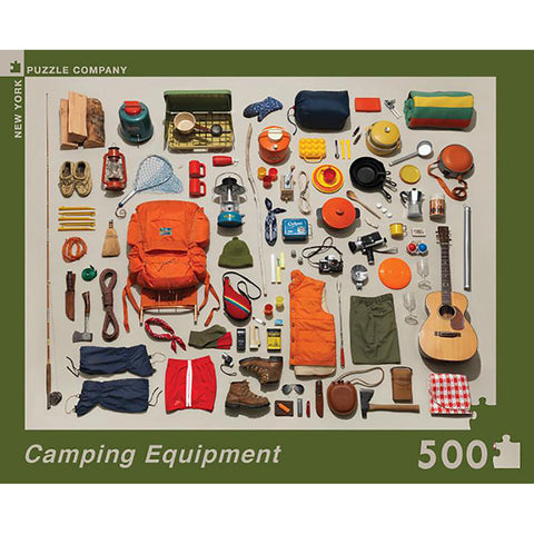 Camping Equipment 500 Piece Puzzle - Steel Petal Press