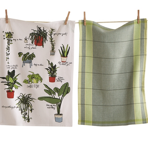 Rooting For You Potted House Plant Plants Dishtowel Set Of 2 - TAG