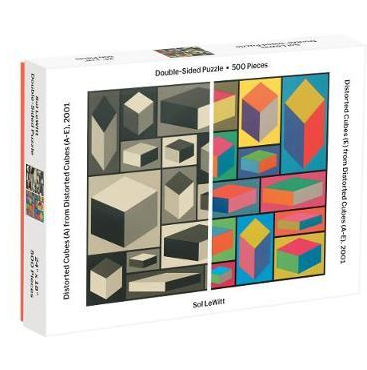 Distorted Cubes Sol LeWitt Le Witt Double Sided 500 Piece Puzzle - CH