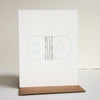 Letterpress 30th Birthday Card
