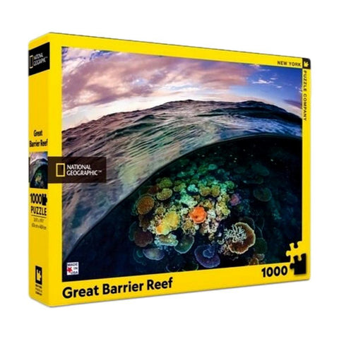 Great Barrier Reef National Geographic 1000 Piece Puzzle - Steel Petal Press