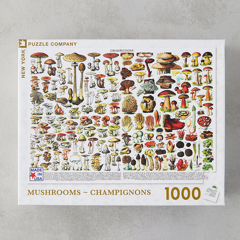 Mushrooms Champignons 1000 Piece Puzzle - Steel Petal Press