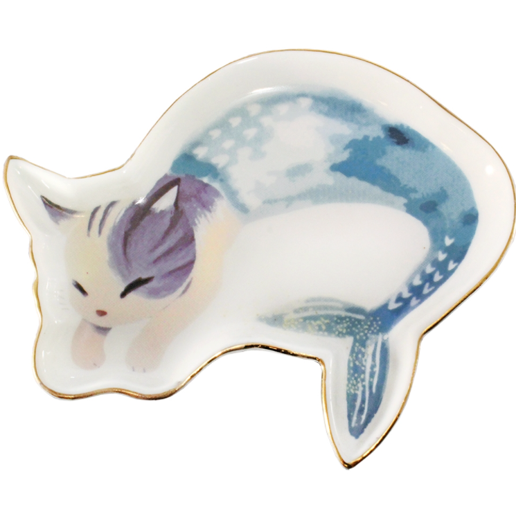 Cat Mermaid Trinket Jewelry Tray