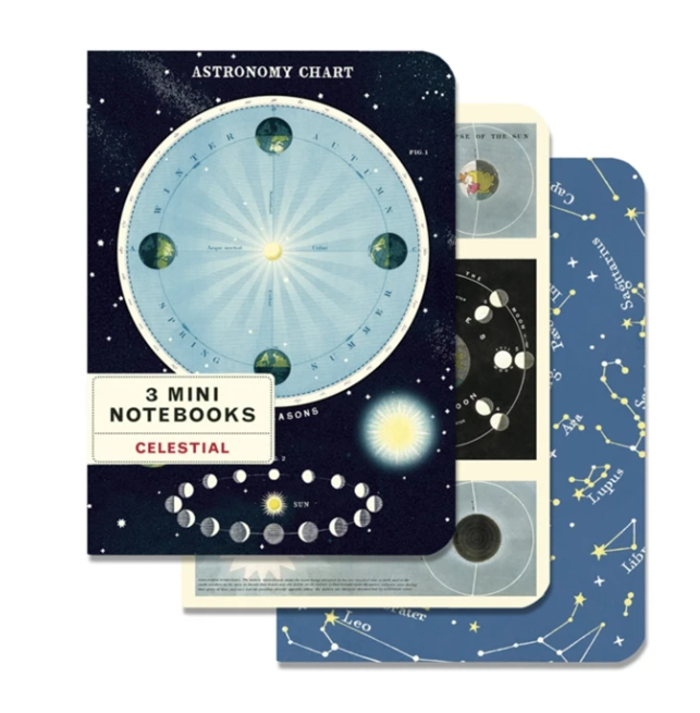Celestial Astronomy Chart Set Of 3 Mini Notebooks - CPC