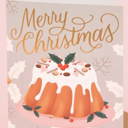 Merry Christmas Fruit Cake Card