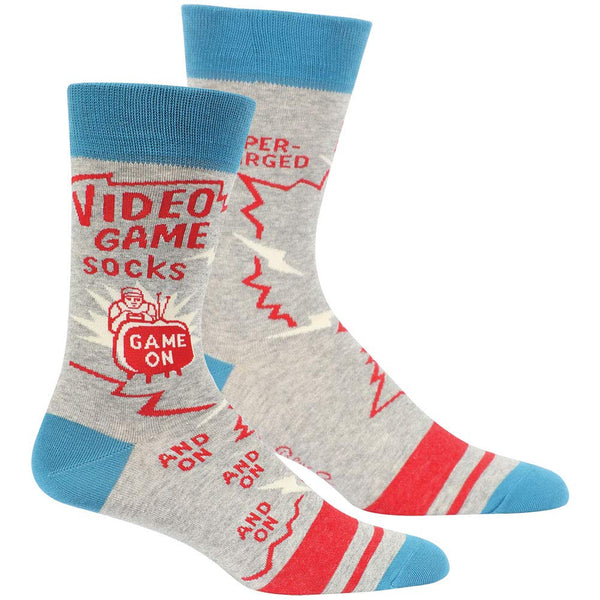 Mens Crew Socks - Video Game Socks - Steel Petal Press