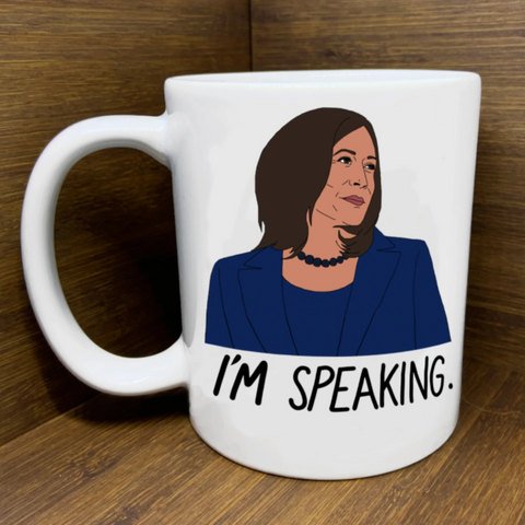 """I'm Speaking"" Kamala Harris Mug"