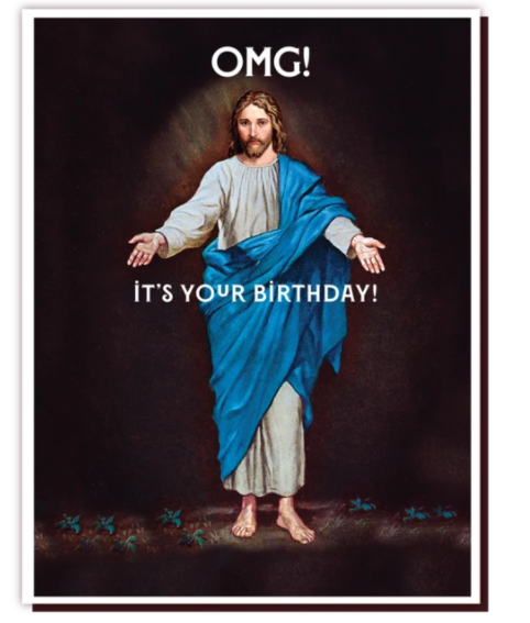OMG Its Your Birthday Jesus Card - Regular, Happy Holidays - OD