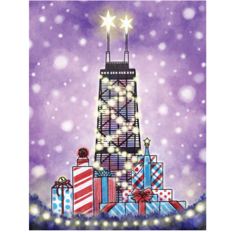 Hancock Sears Tower Holiday Card
