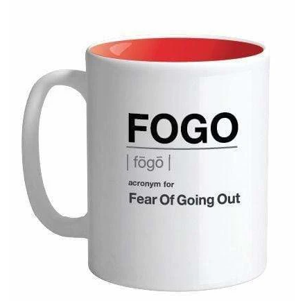 FOGO  Acronym For Fear Of Going Out Mug - SLI