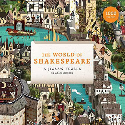 The World Of Shakespeare 1000 Piece Puzzle - Steel Petal Press
