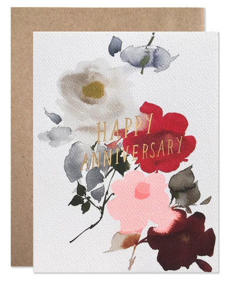Dealrty 1 Happy Anniversary Flowers Card - HLB