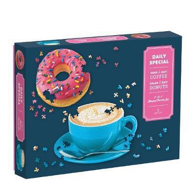Daily Special Donut And Coffee Latte  2 Shape Puzzle - CH - Steel Petal Press