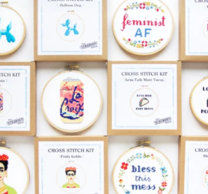 Cross Stitch Kit - La Croix, Doing My Best, Bless This Mess, RBG Ruth Bader Ginsburg, No Prob Llama, Boob Crew, Crafty Bitch - TSSK