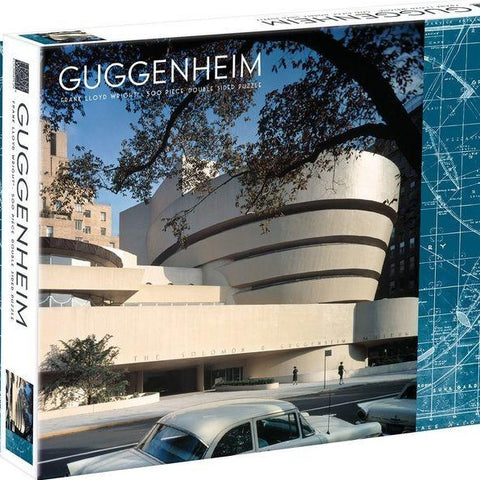 Frank Lloyd Wright Guggenheim Double Sided 500 Piece Puzzle - Steel Petal Press