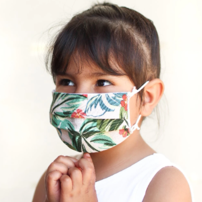 KIDS Pleated Face Mask - Steel Petal Press