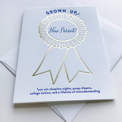 Award Ribbon New Parent - Steel Petal Press