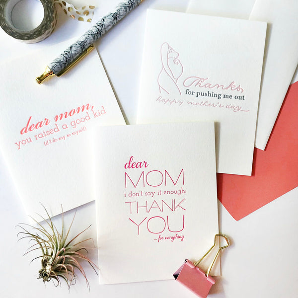 Mom Kid Card - Steel Petal Press