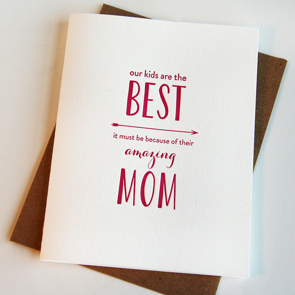 Amazing Mom Card | Steel Petal Press
