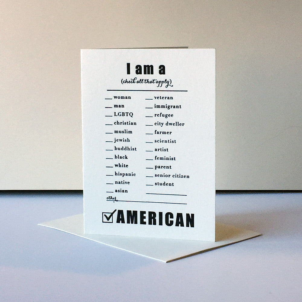Protest Card - American - Steel Petal Press