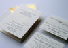 Gold Foil and letterpress Anchor Wedding invitations chicago