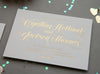 Gold Foil Wedding Invitation Chicago