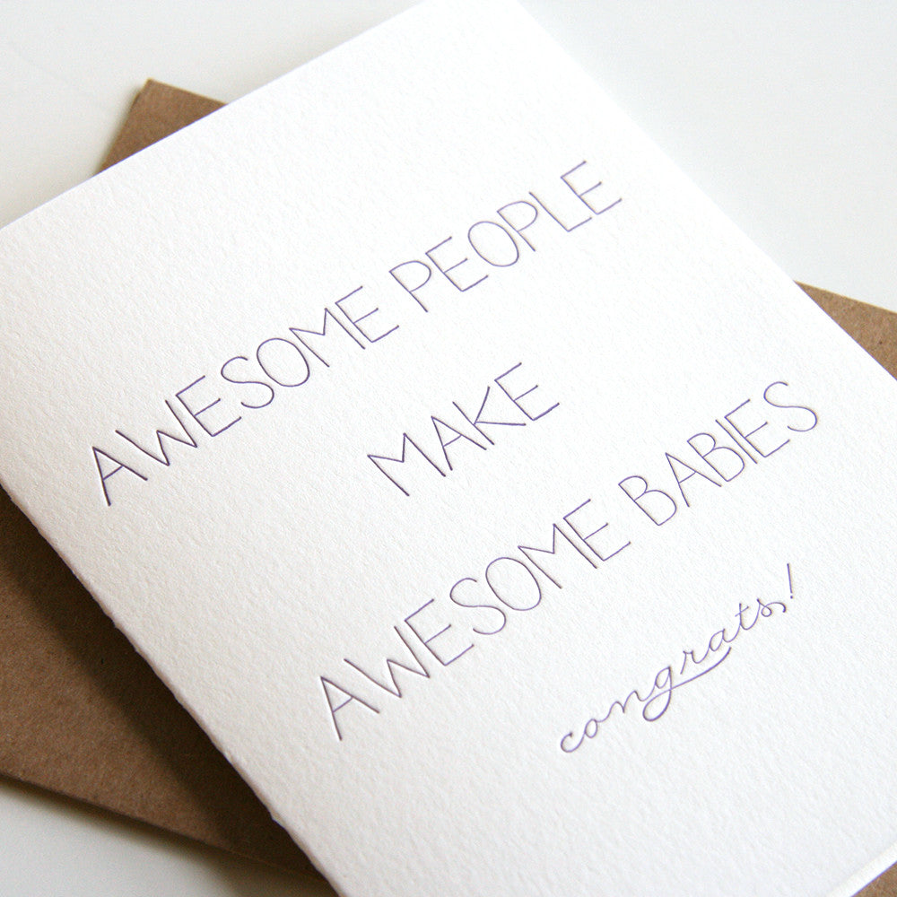 Awesome Babies Card - Steel Petal Press