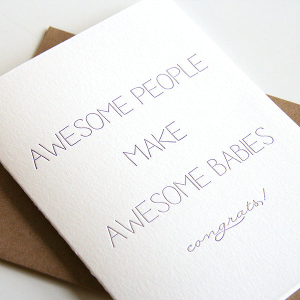Awesome Babies Card | Steel Petal Press
