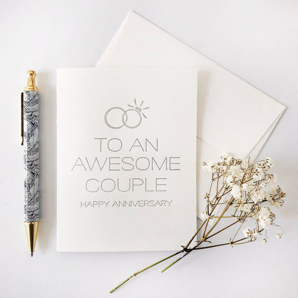 Awesome Couple Anniversary - Steel Petal Press