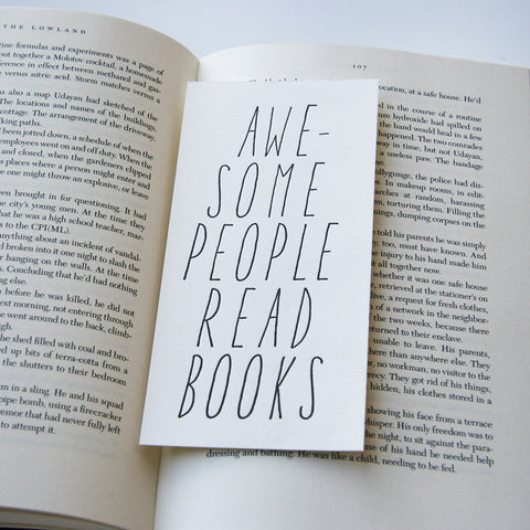 Awesome People Read - bookmark - Steel Petal Press