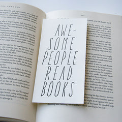 Awesome People Read - bookmark