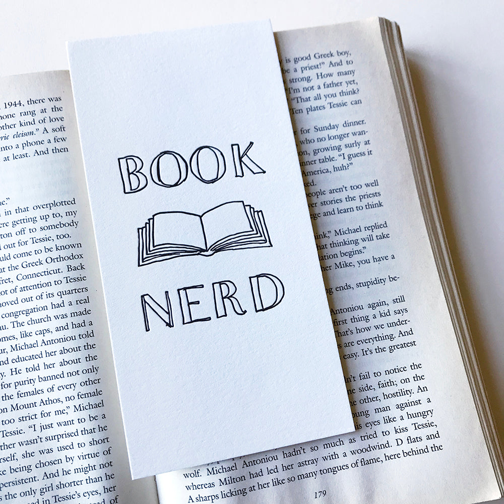 Book Nerd Bookmark - Steel Petal Press