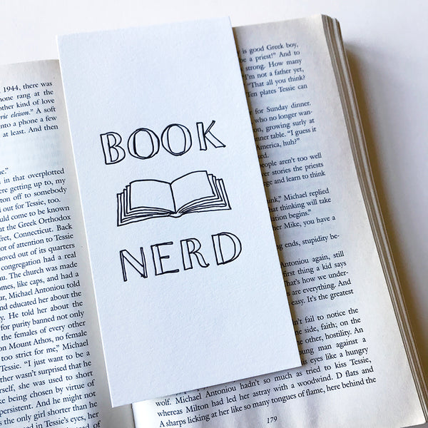 Book Nerd Bookmark | Steel Petal Press
