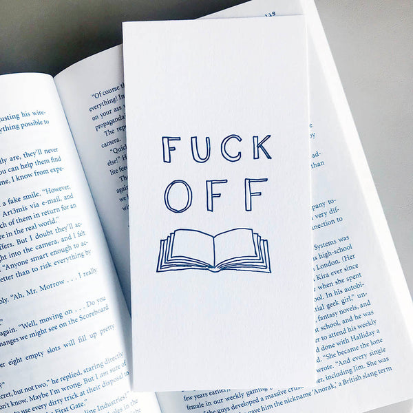 Fuck Off Bookmark | Steel Petal Press