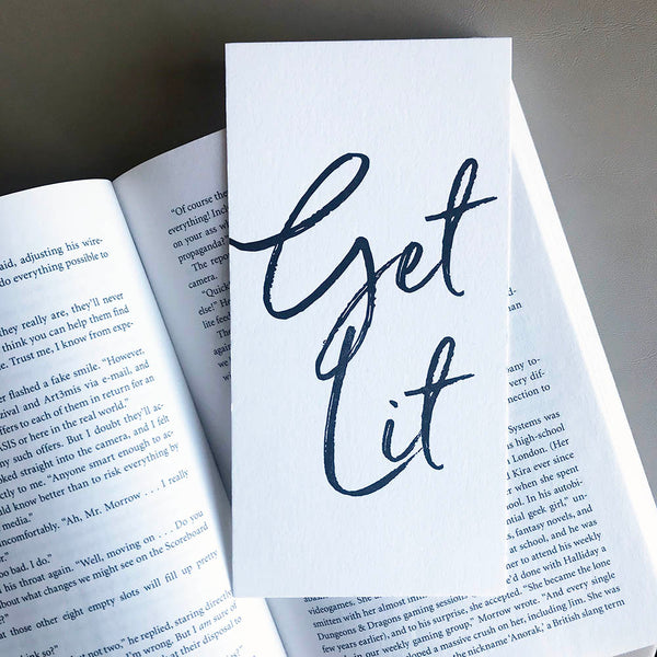 Get Lit Bookmark | Steel Petal Press