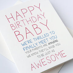 Baby Bday Card
