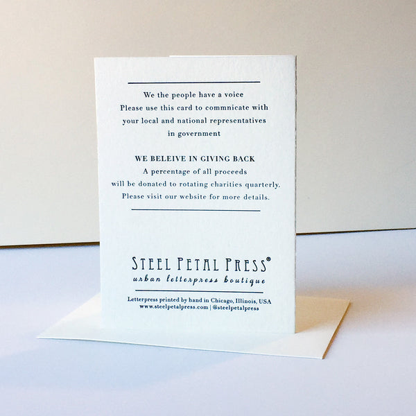 Protest Card - Injustice - Steel Petal Press