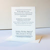 Letterpress protest card - Injustice