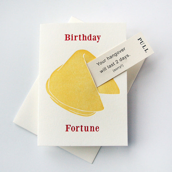 Birthday Hangover - Fortune Cookie | Steel Petal Press
