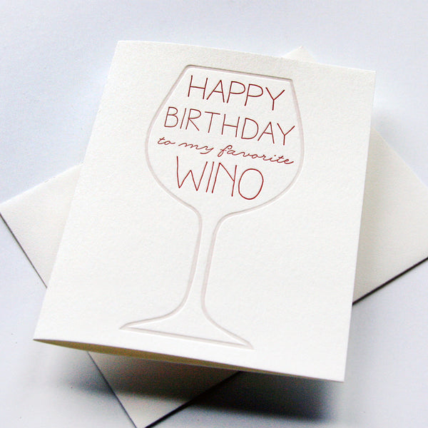 Wino Bday card | Steel Petal Press