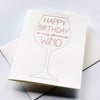 Letterpress Birthday card- Wino Bday