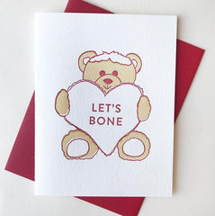 Bear Lets Bone Card