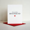 Letterpress Valentine's day and love card for boyfriend