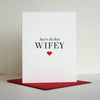 Letterpress Love and Valentine's day card wife