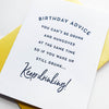 Letterpress birthday card - Keep Drinking